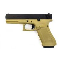 WE EU18C Full Auto GBB pistol Gen4 Tan